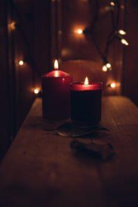 bougies parfumées déco